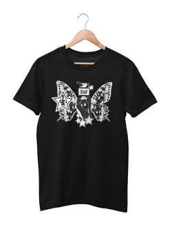 T-shirt printed with Butterfly Motif - Women