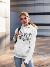 Load image into Gallery viewer, Hoodie with Butterfly Motif - Women