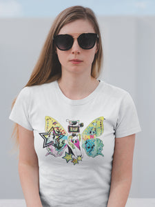 T-shirt with Butterfly Motif - Women