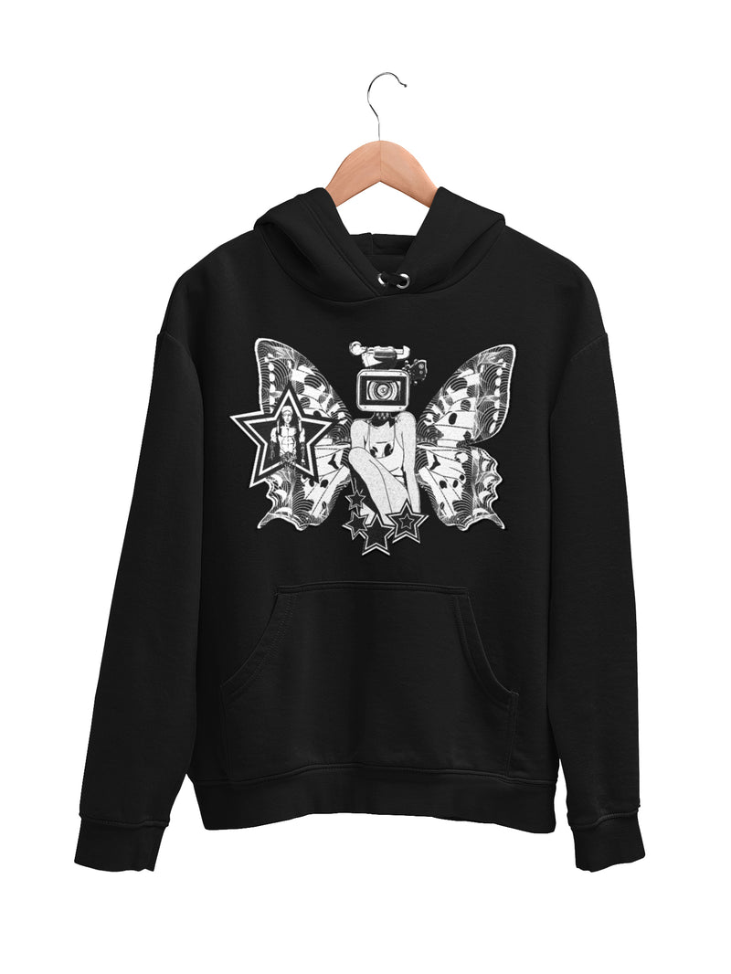 Hoodie with Butterfly Motif - Women