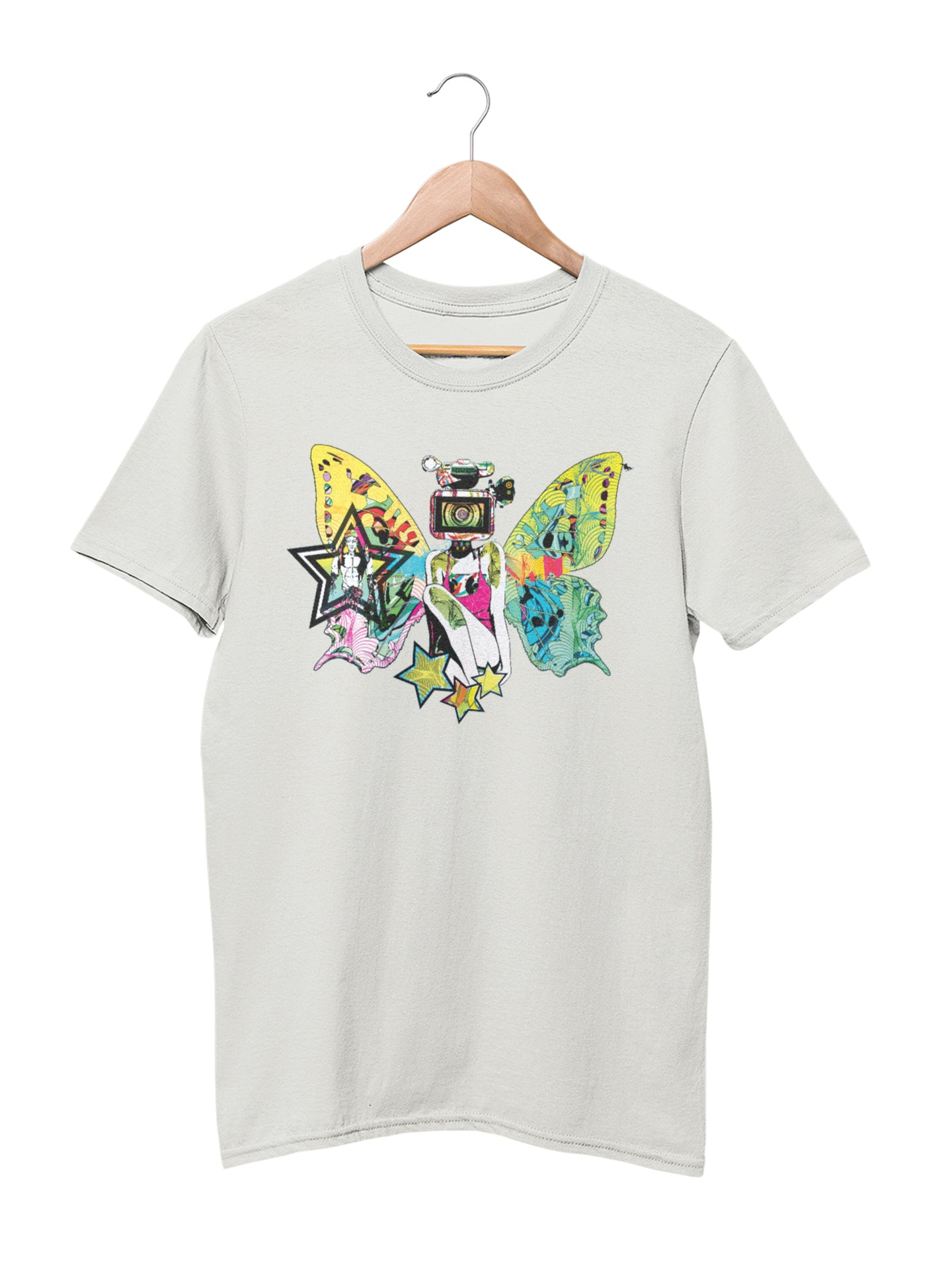 T-shirt with Butterfly Motif