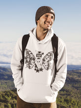 Load image into Gallery viewer, Hoodie with Butterfly Motif