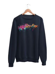Sweatshirt with Color Splat Motif