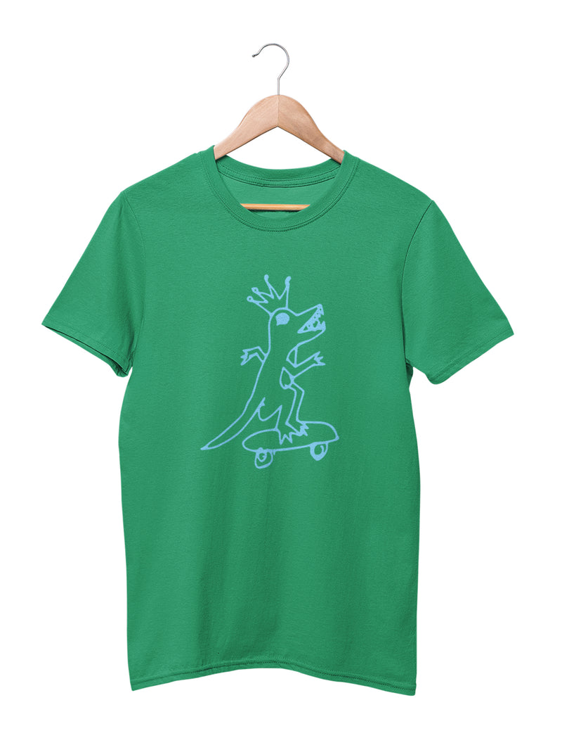 T-shirt with Dino Skater Motif