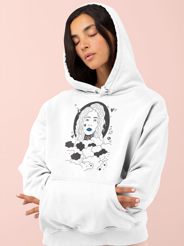 Hoodie with Sky is the Limit Motif - Women