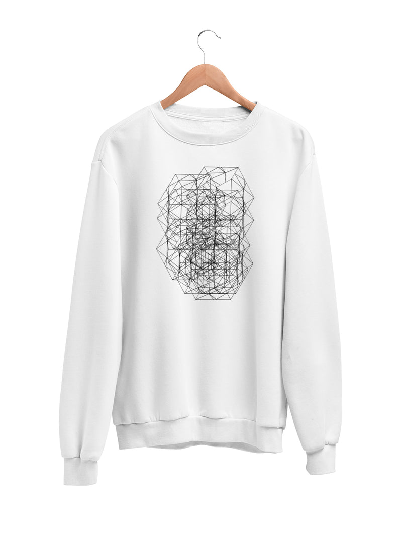 Sweatshirt with Geometric Motif