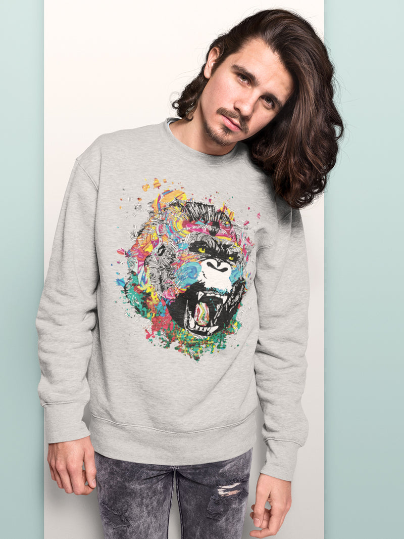 Sweatshirt with Kingkong Motif