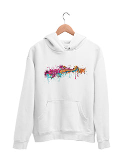 Hoodie with Color splat Motif - Women
