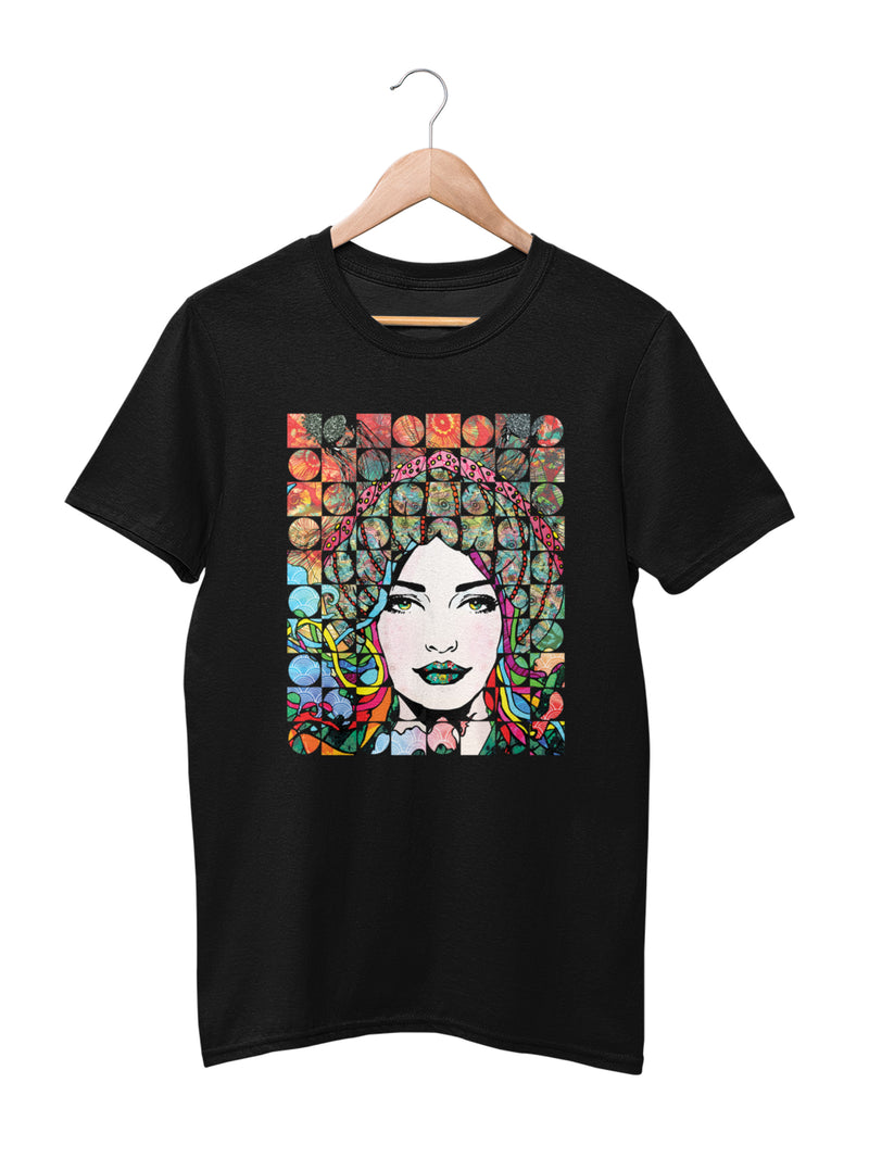 T-shirt Printed with Jellyfish Girl Motif