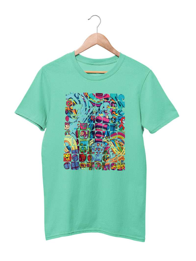 T-shirt with Kids in the City Motif