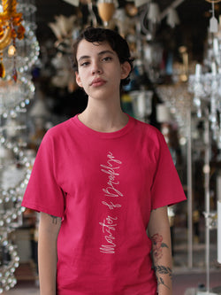 T-shirt Printed with Written Letters Motif - Women