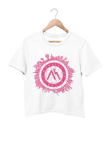 Crop Top with Logo Motif - Women