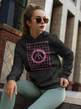Load image into Gallery viewer, Hoodie with Pink Logo Motif