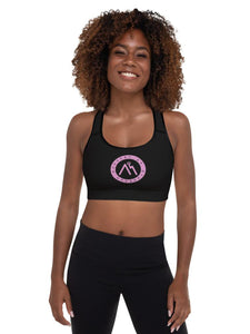 Purple Logo Padded Sports Bra