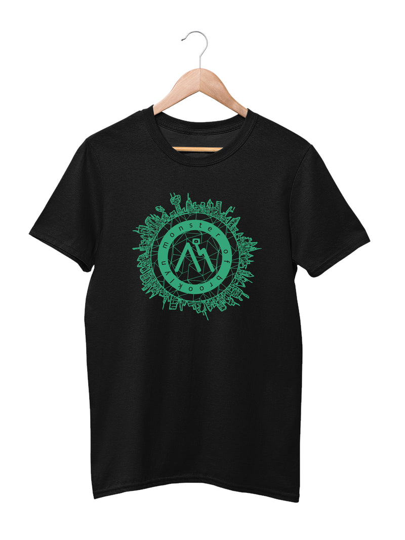 T-shirt Printed With M.O.B. Logo and City Outline