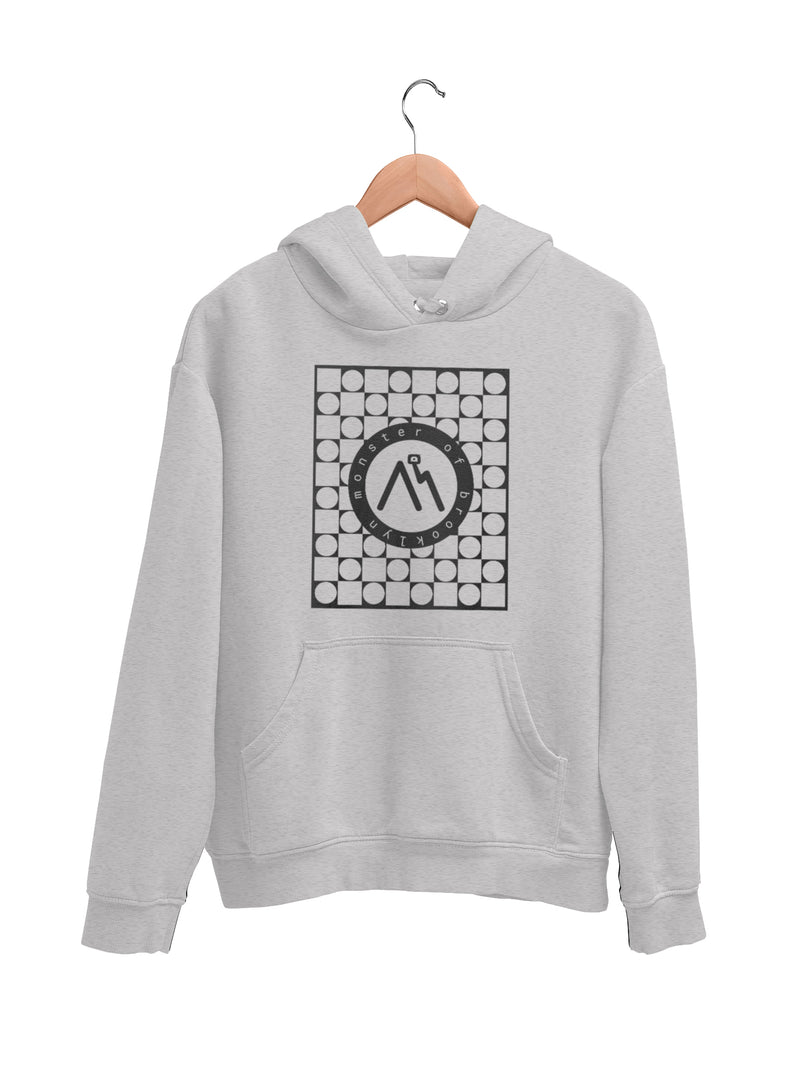 Hoodie with Creative Logo Motif