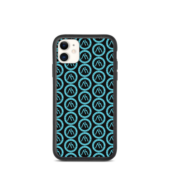Blue Logo Black Biodegradable phone case