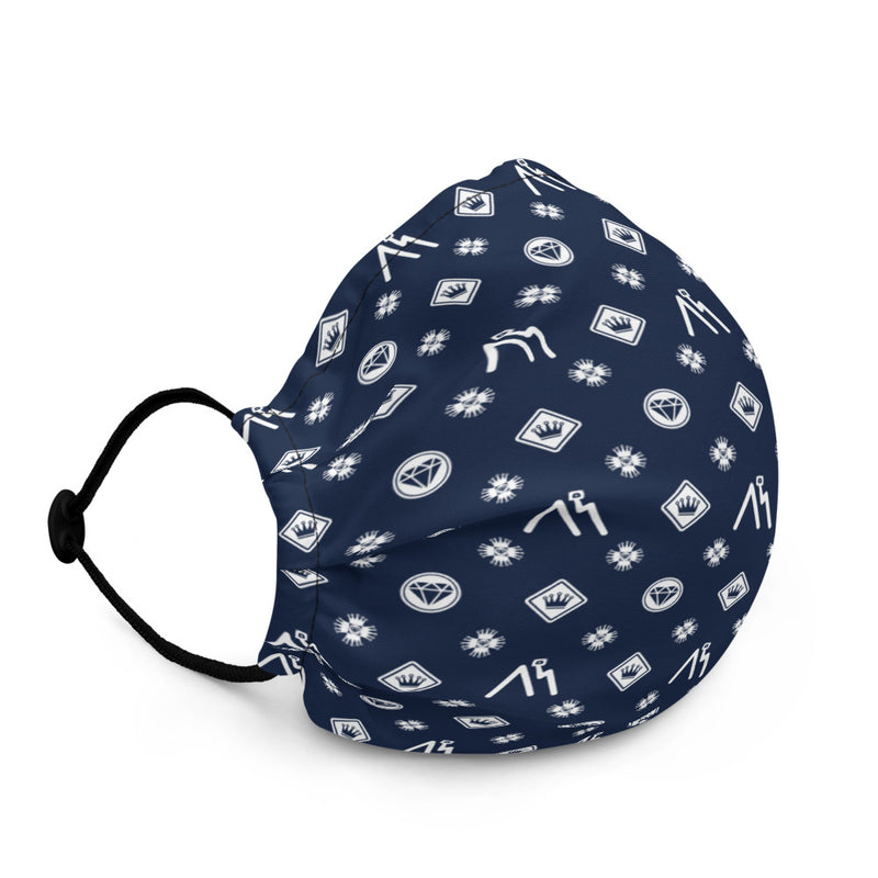 Navy Logo Pattern Face mask