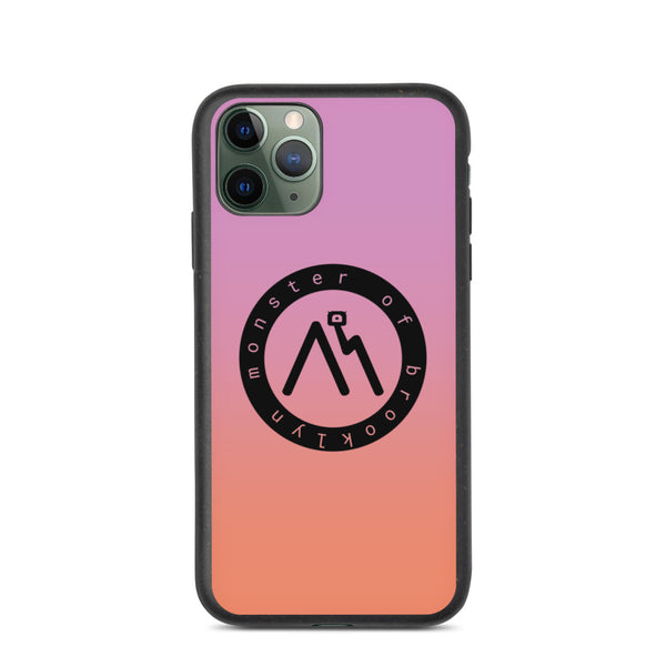 Purple and Peach Biodegradable phone case