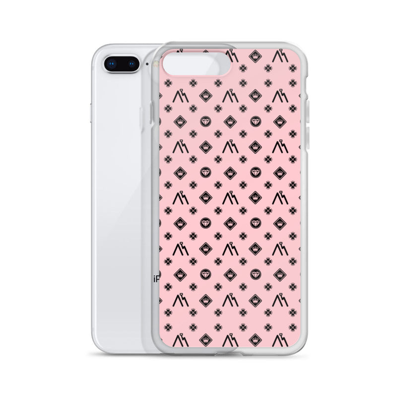 Monster of Brooklyn Pink Logo iPhone Case