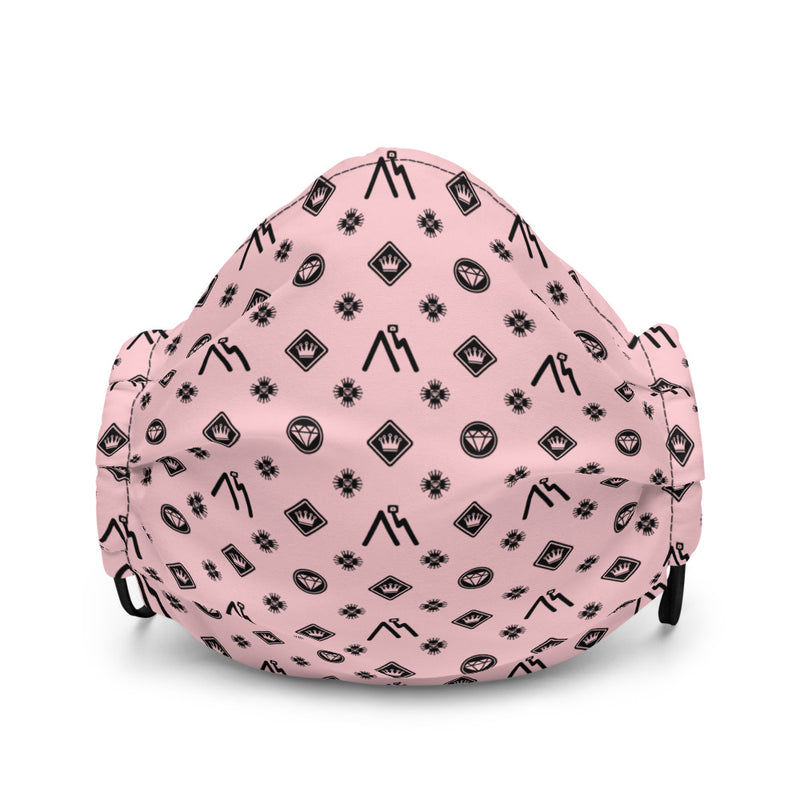 Pink Logo Pattern Face mask
