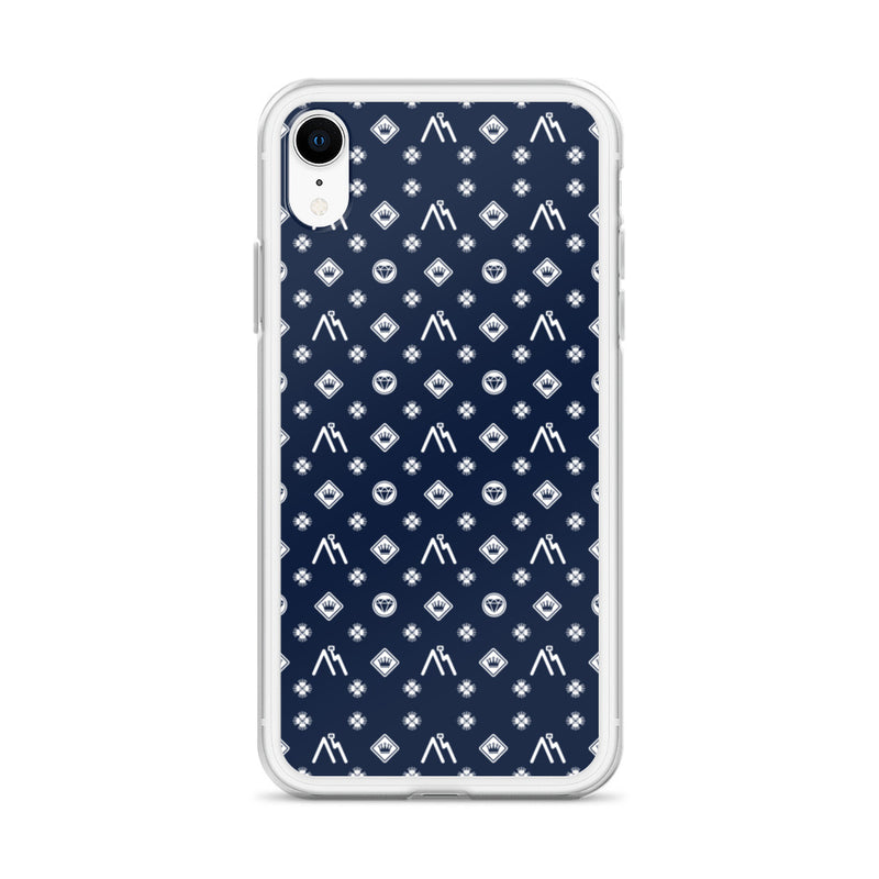 Monster of Brooklyn Dark Blue Logo iPhone Case