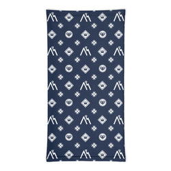 Navy Logo Pattern Neck Gaiter