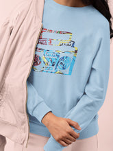 Load image into Gallery viewer, Sweatshirt with Boombox Motif - Women