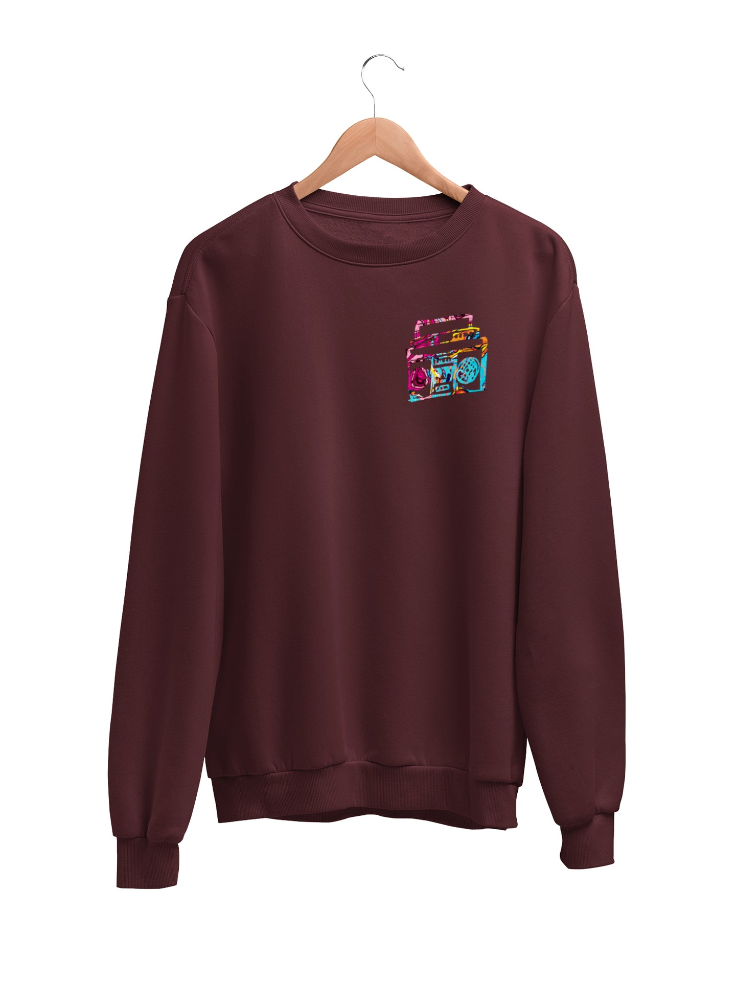 Sweatshirt with Small Boombox Motif