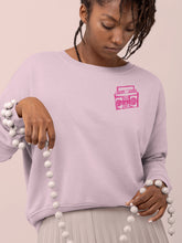 Load image into Gallery viewer, Sweatshirt with Boombox Mini Motif - Women