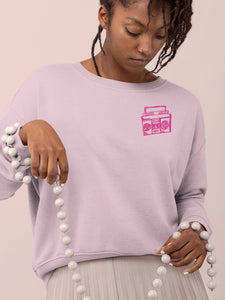 Sweatshirt with Boombox Mini Motif - Women