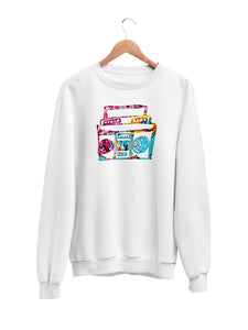 Sweatshirt with Boombox Motif