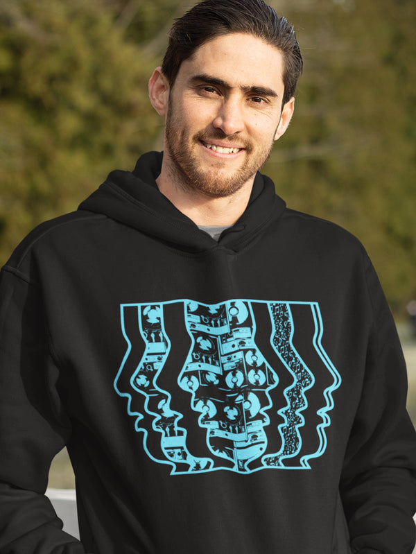 Hoodie with Music Motif