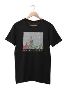 T-shirt with New York Motif - Women