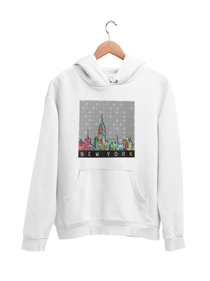 Hoodie with New York Motif