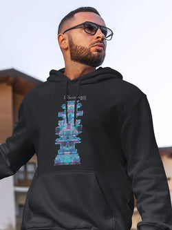 Hoodie with New York Robot Motif