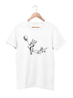 T-shirt Printed with Puppy Motif - Women