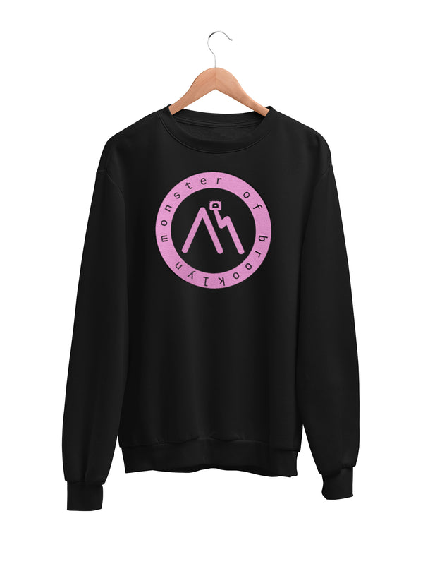Sweatshirt with Logo Motif - Women