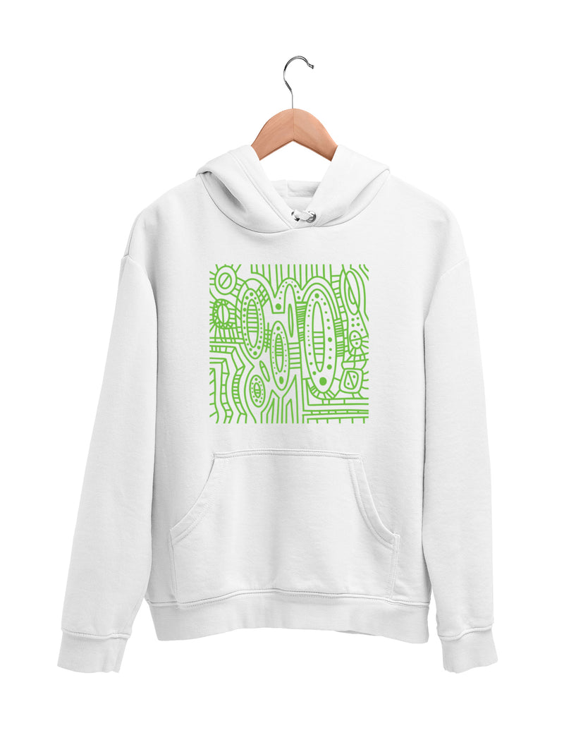 Hoodie with Cool Pattern Motif