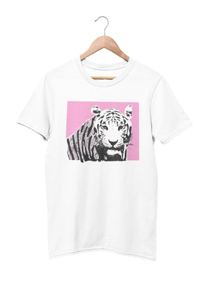 T-shirt with tiger motif