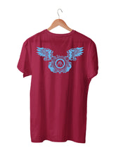 Load image into Gallery viewer, T-shirt Printed With M.O.B. Logo and Wing Emblem Front & Back