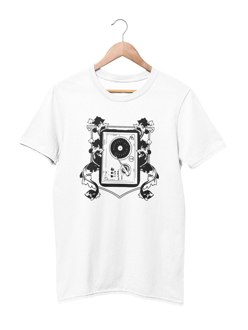 T-shirt with Turntable Motif