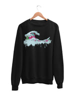 Sweatshirt with Wave Motif