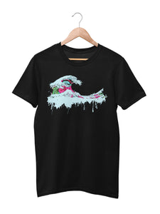 T-shirt with wave motif