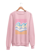 Load image into Gallery viewer, Sweatshirt with Pastel Wave Motif - Women
