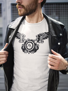T-shirt Printed With Wing M.O.B Emblem