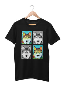 T-shirt with wolf motif