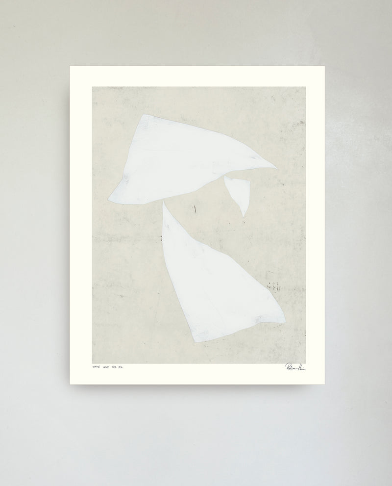 WHITE LEAF no. 02 /  40 x 50 cm