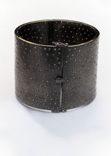 Rhodium Plate over Sterling & Pave Diamond Cuff 2761-Bracelets-Gretchen Ventura