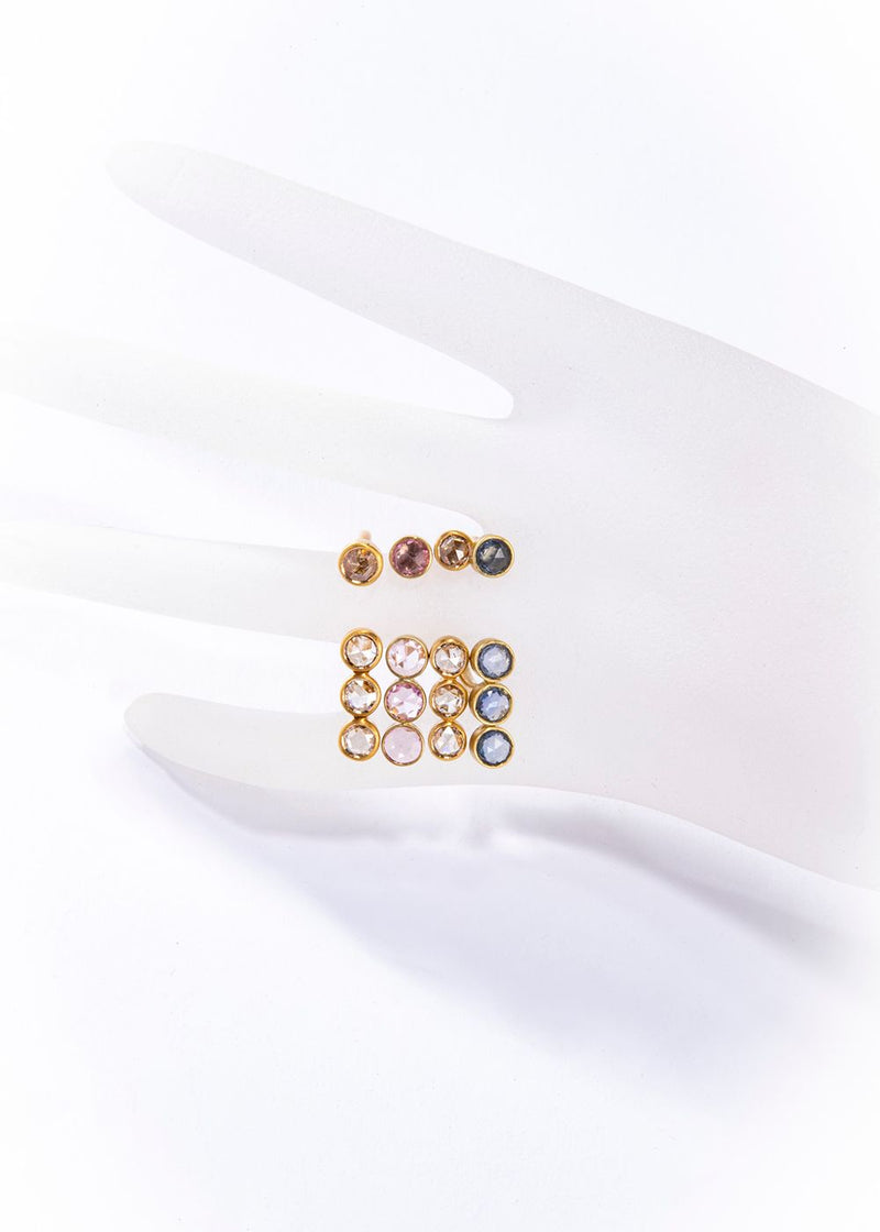 14K Matte Gold Ring w/Champagne Diamond #5030-Rings-Gretchen Ventura